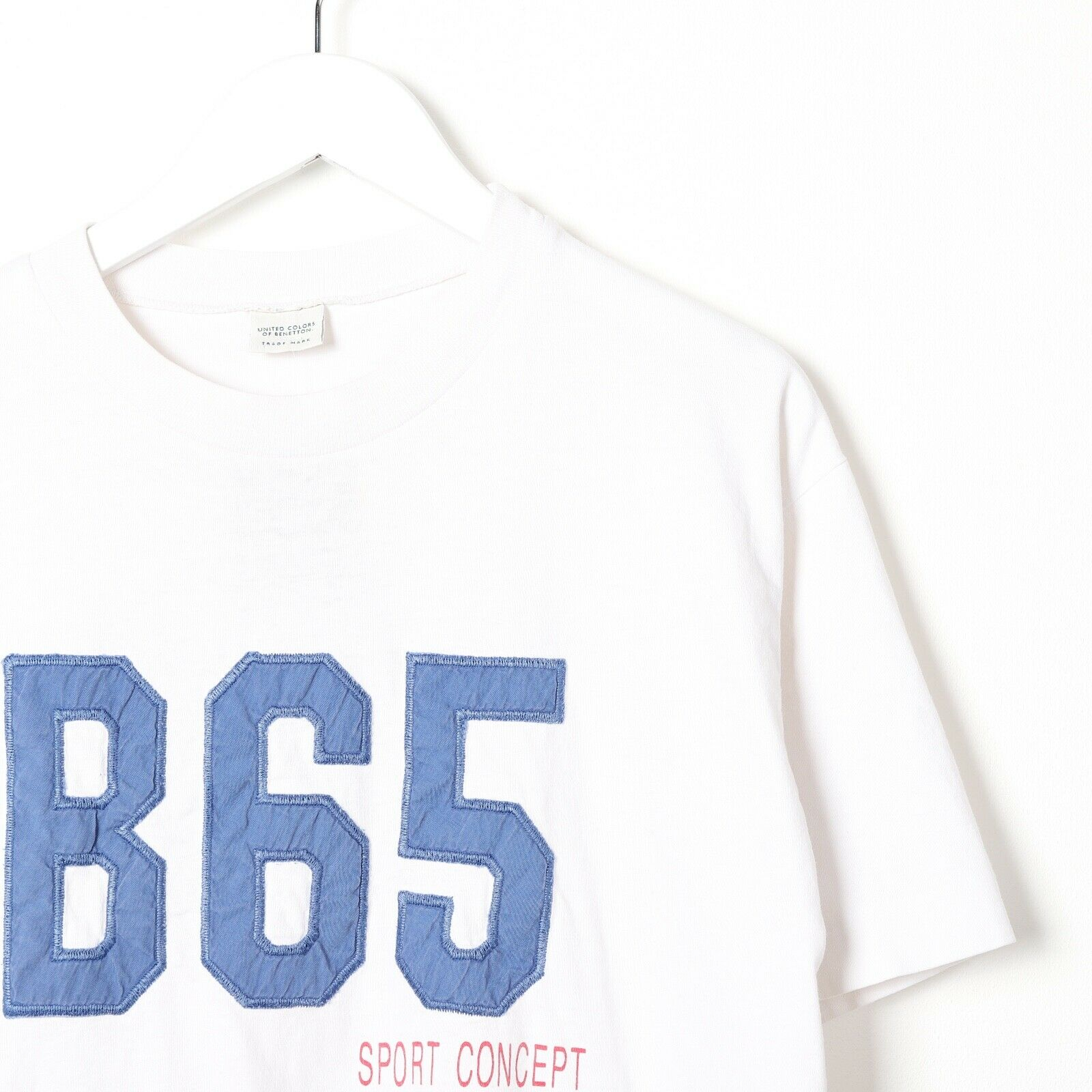 Vintage UNITED COLORS OF BENETTON Big Logo T Shirt Tee White | Medium M