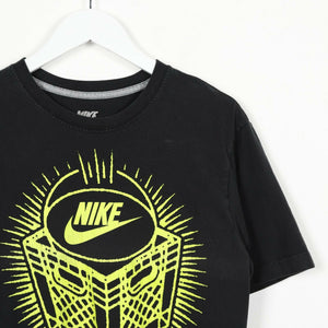 Vintage NIKE Graphic Print T Shirt Tee Black | Small S