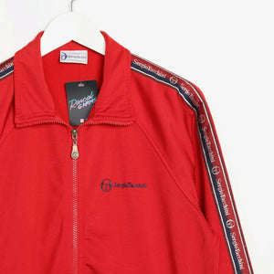 Vintage 90s SERGIO TACCHINI Tape Arm Track Top Jacket Red Small S
