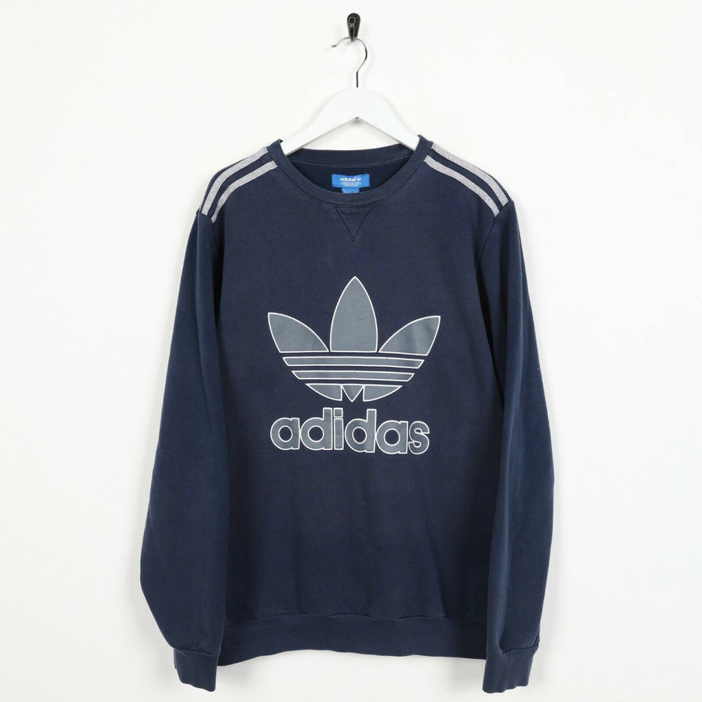 Vintage ADIDAS ORIGINALS Small Logo Sweatshirt Jumper Blue | Medium M