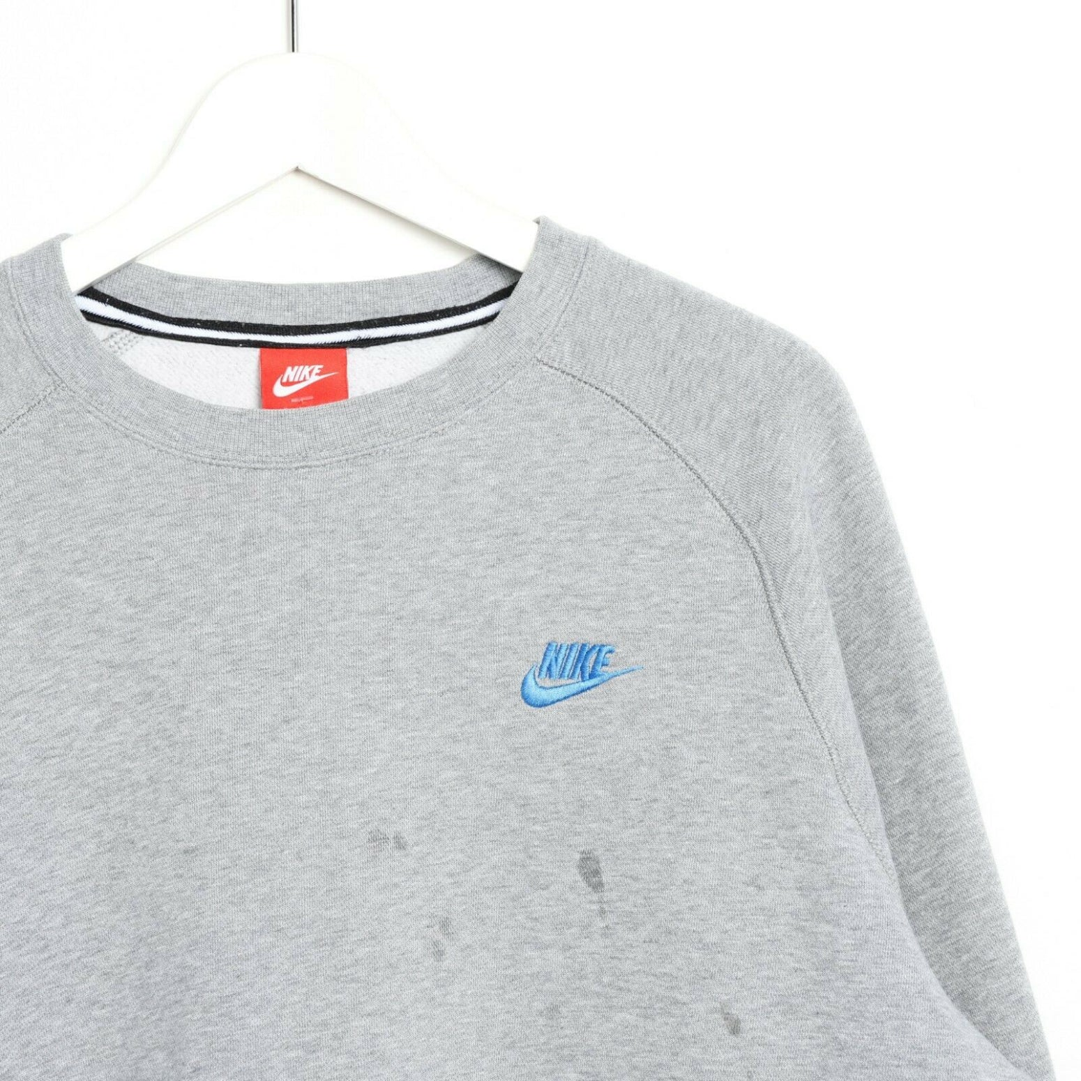 Vintage NIKE Small Logo Sweatshirt Jumper Grey | XL