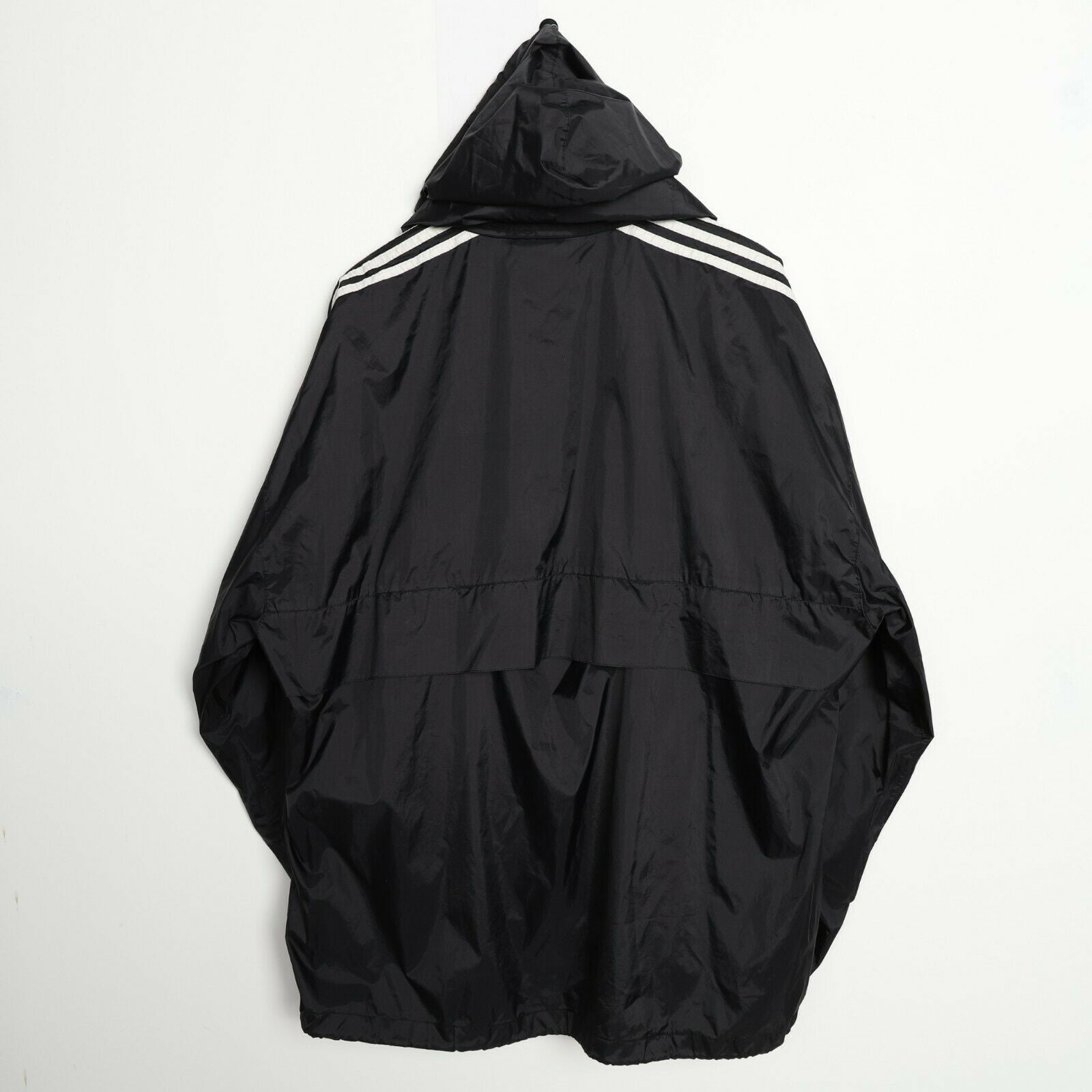 Vintage 80s ADIDAS Soft Shell Windbreaker Anorak Jacket Black | XL