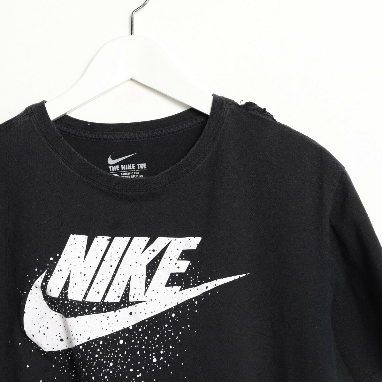 Vintage NIKE Big Graphic Logo T Shirt Tee Black XL