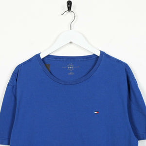 Vintage TOMMY HILFIGER Small Logo T Shirt Tee Blue Large L