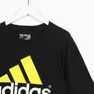 Vintage ADIDAS Big Logo T Shirt Tee Black | XL