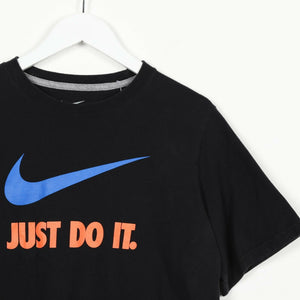 Vintage Women's NIKE Big Logo T Shirt Tee Black | XL
