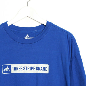 Vintage ADIDAS Big Graphic Logo T Shirt Tee Blue XL