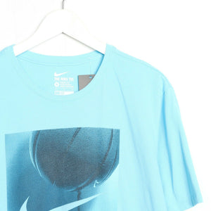 Vintage NIKE Graphic Big Logo T Shirt Tee Blue | XL