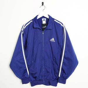 Vintage 90s ADIDAS Small Logo Tracksuit Top Jacket Blue Medium M