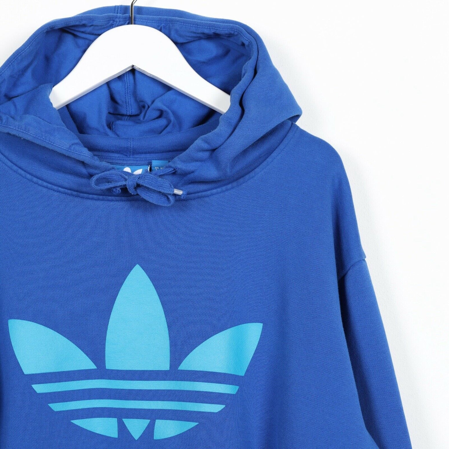 Vintage ADIDAS ORIGINALS Big Trefoil Logo Hoodie Sweatshirt Blue Large L