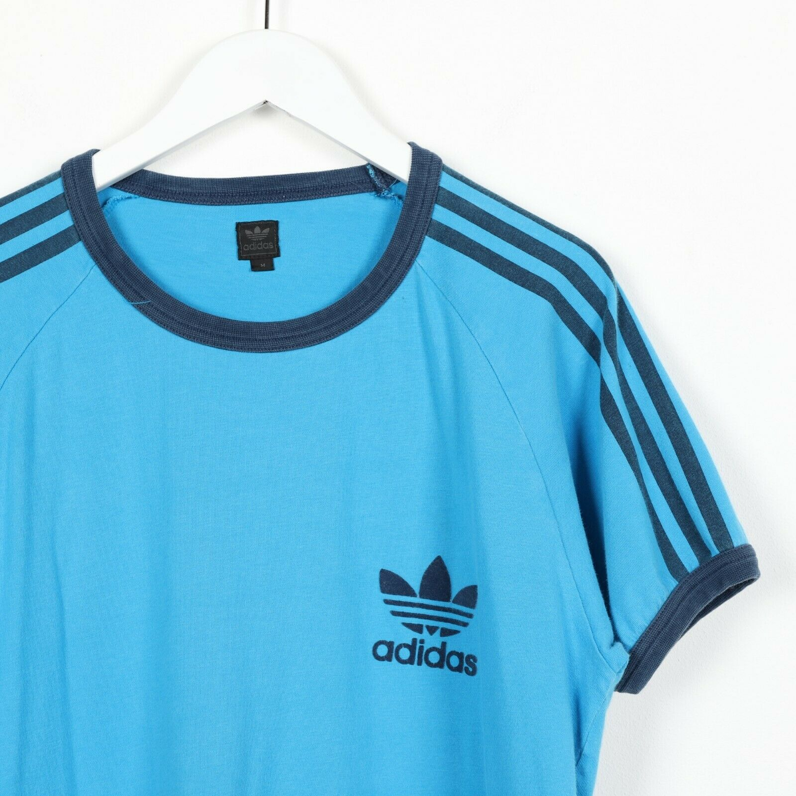 Vintage ADIDAS ORIGINALS Small Logo T Shirt Tee Blue | Medium M