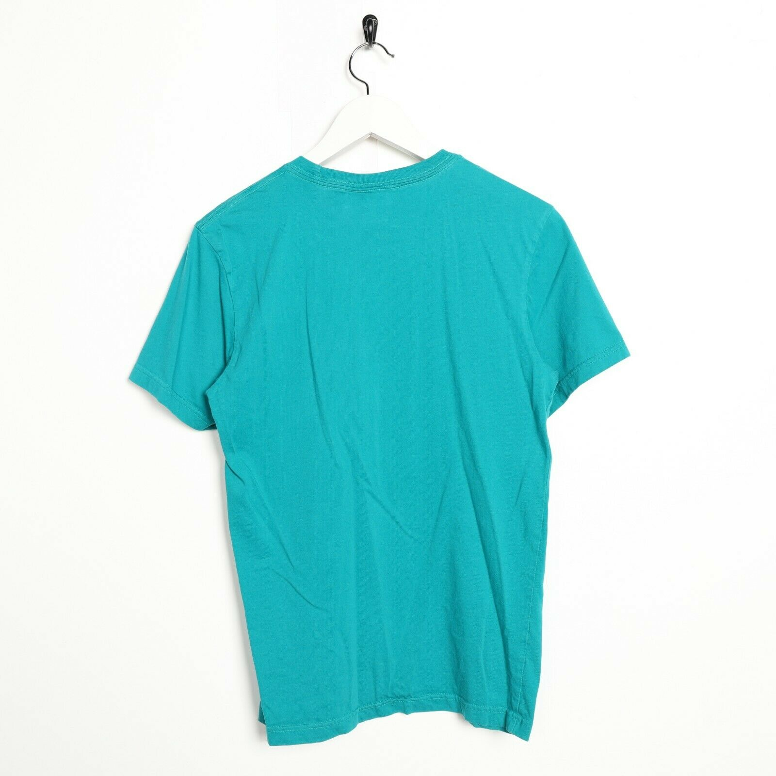 Vintage ADIDAS ORIGINALS Big Trefoil Logo T Shirt Tee Turquoise | Small S