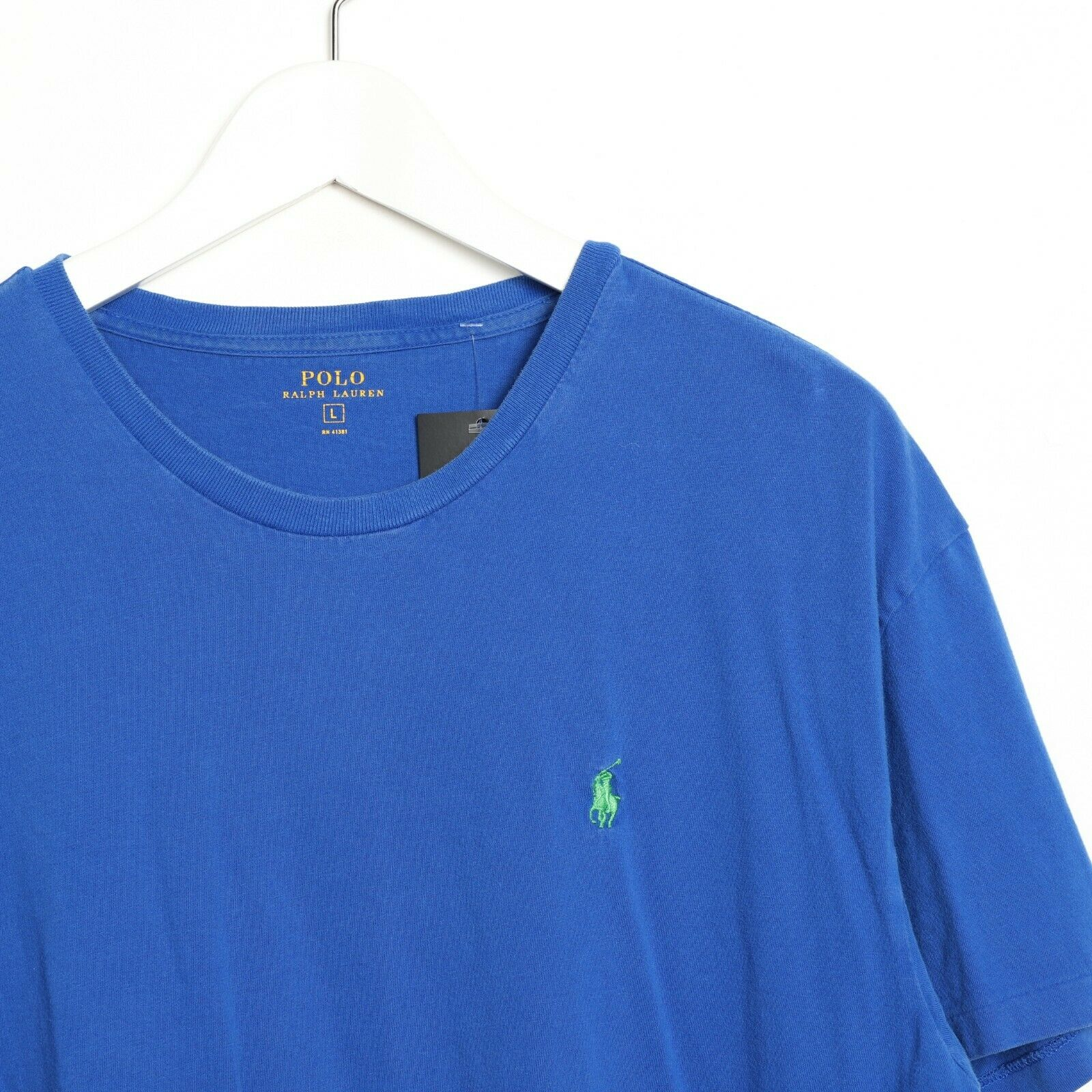 Vintage RALPH LAUREN Small Logo T Shirt Tee Blue | Large L
