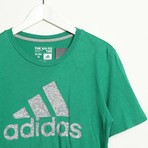 Vintage ADIDAS Big Logo T Shirt Tee Green Medium M