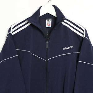 Vintage Women's 80s ADIDAS Small Logo Track Top Jacket Blue small s