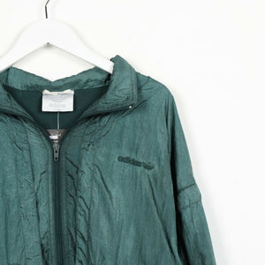 Vintage 80s ADIDAS Small Logo Soft Shell Zip Up Windbreaker Jacket | Large L