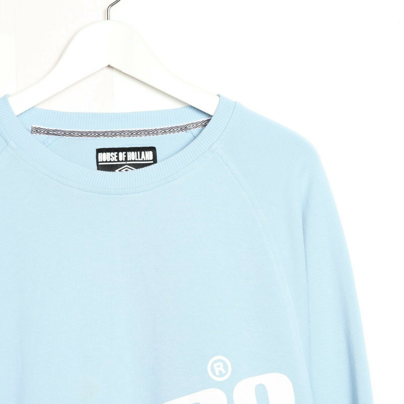 Vintage UMBRO Big Logo Sweatshirt Jumper Light Blue | Large L