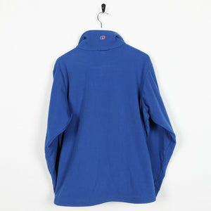 Vintage Women's BERGHAUS Zip Up Fleece Top Blue UK 14