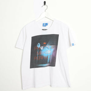 Vintage ADIDAS ORIGINALS Graphic T Shirt Tee White Medium M
