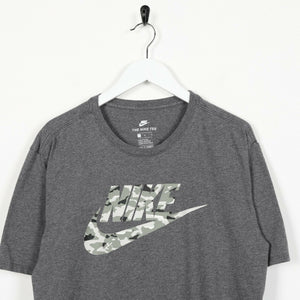 Vintage NIKE Big Logo T Shirt Tee Grey | Large L