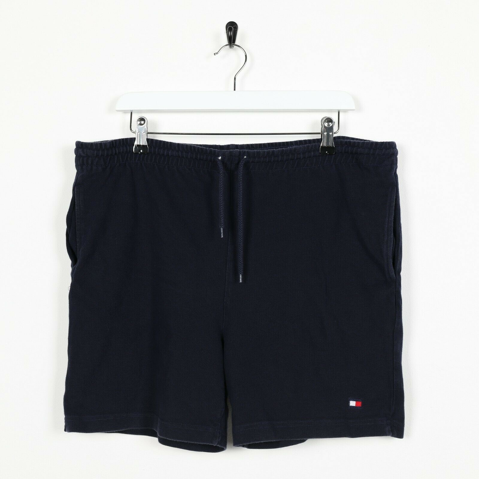 Vintage TOMMY HILFIGER Small Logo Shorts Navy Blue | XL