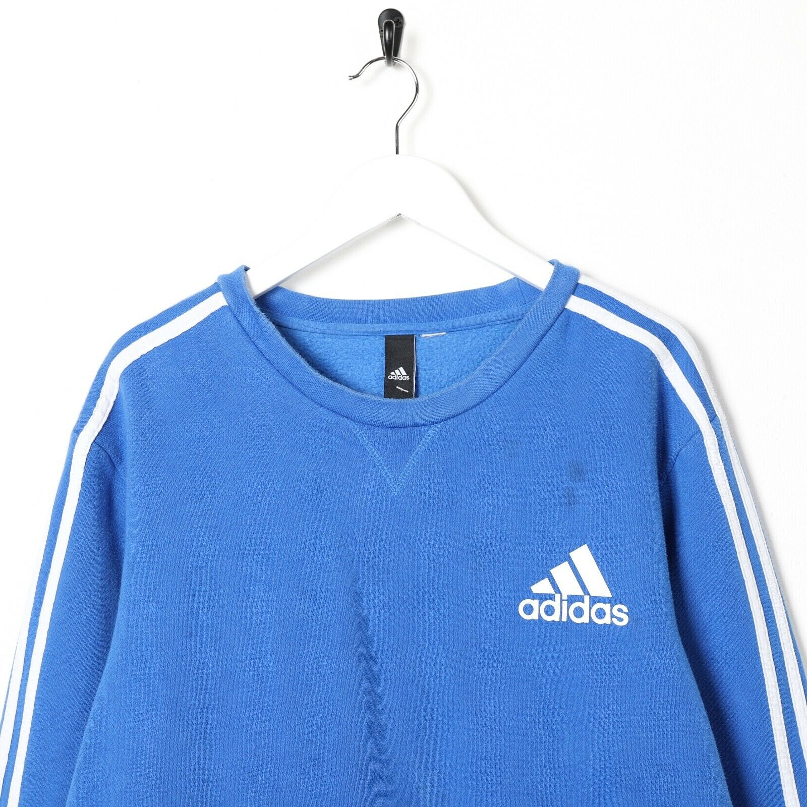 Vintage ADIDAS Small Logo Sweatshirt Jumper Blue Large L