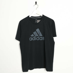 Vintage ADIDAS Big Logo T Shirt Tee Black | Medium M