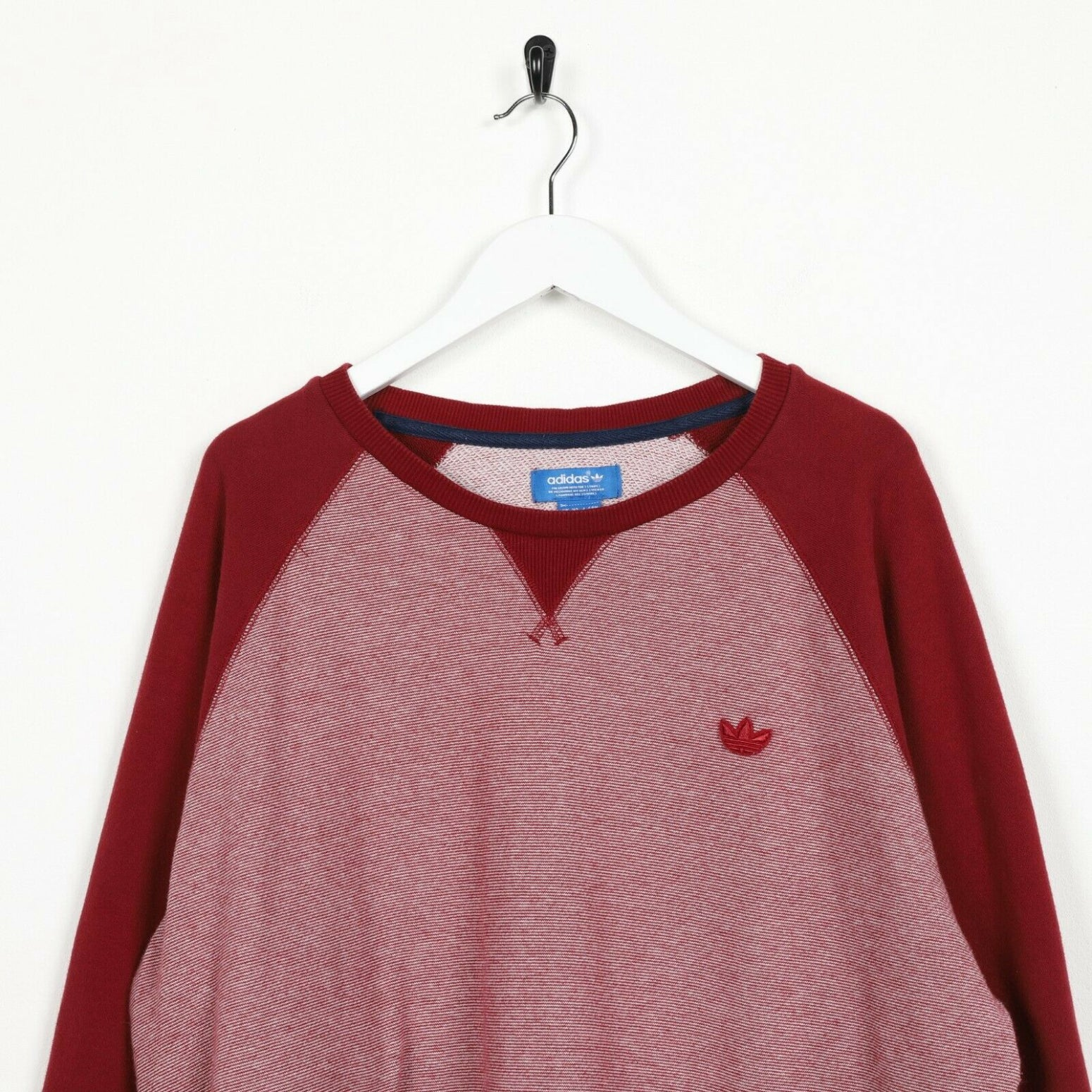 Vintage ADIDAS ORIGINALS Small Logo Sweatshirt Jumper Red XL