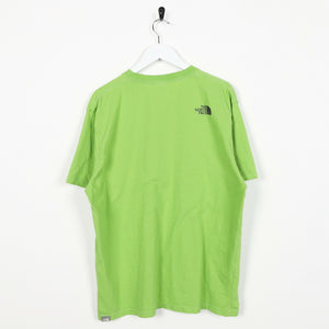 Vintage THE NORTH FACE Central Graphic Logo T Shirt Tee Green Large L