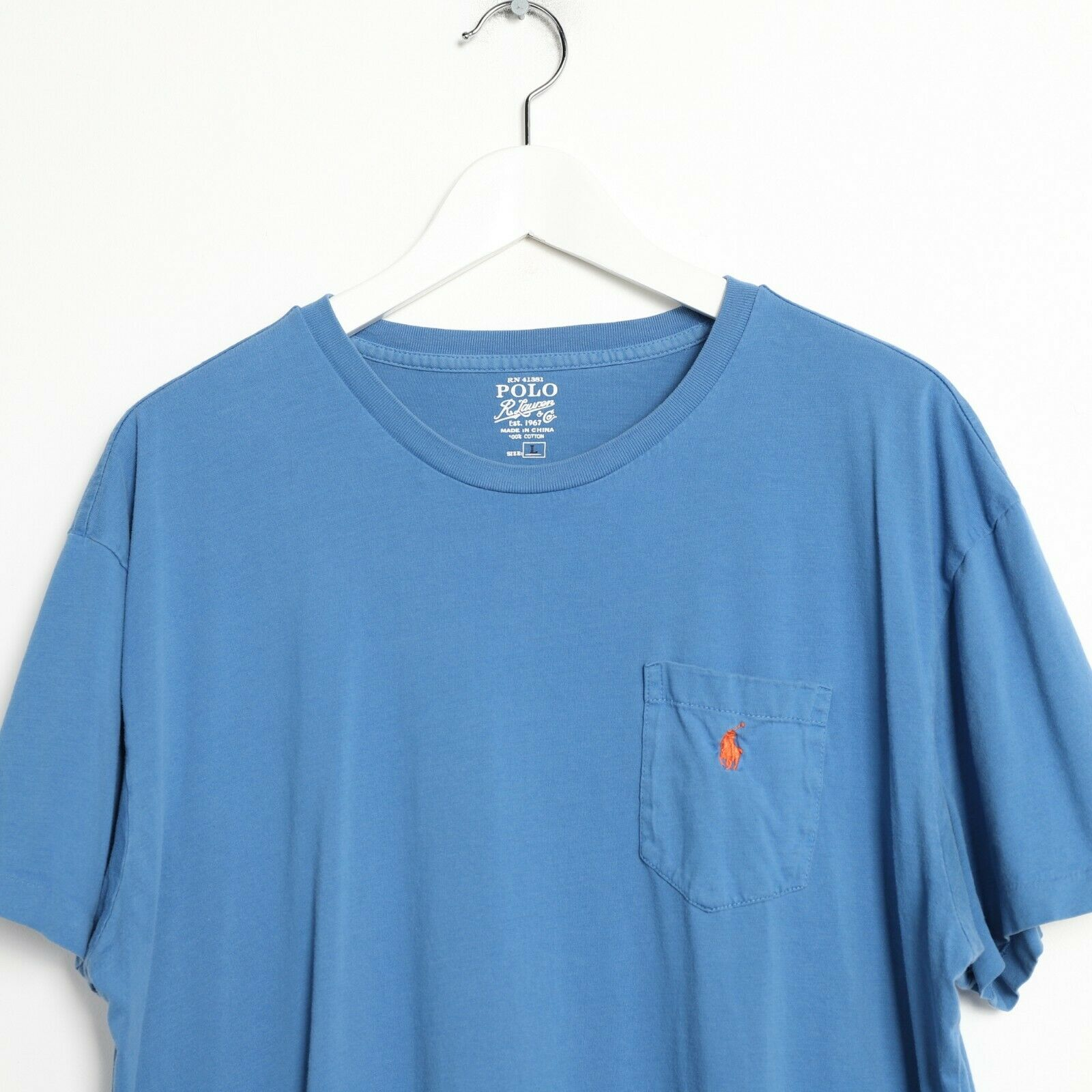 Vintage RALPH LAUREN Small Logo T Shirt Blue | Large L