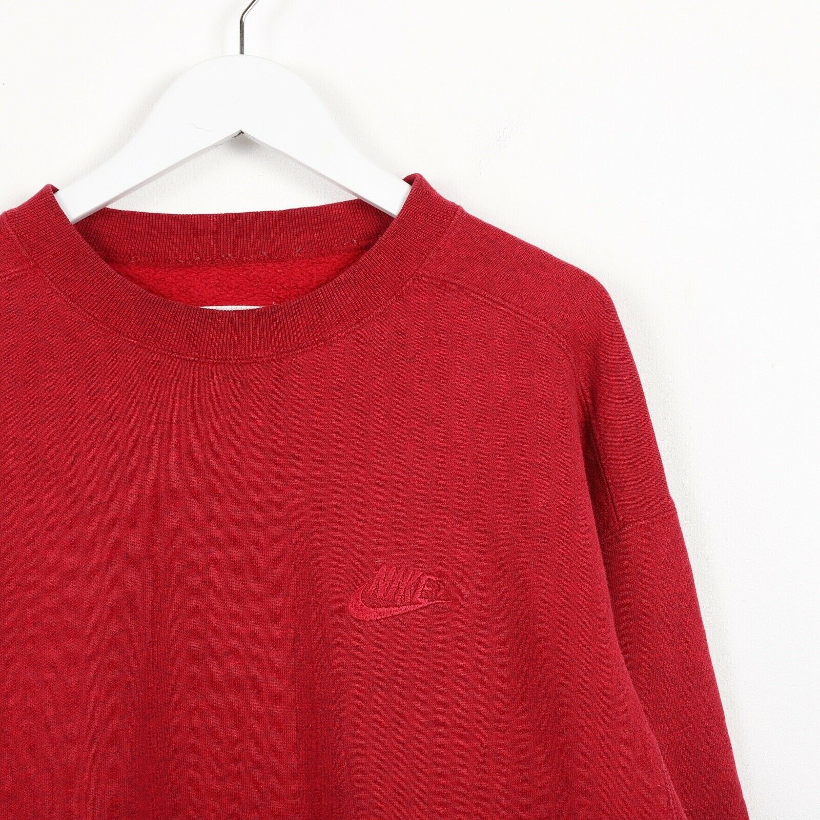 Vintage 90s NIKE Small Logo Sweatshirt Jumper Red Medium M