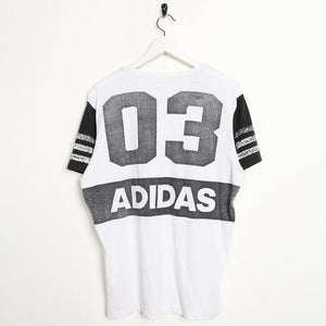 Vintage ADIDAS Graphic Print T Shirt Tee White Large L