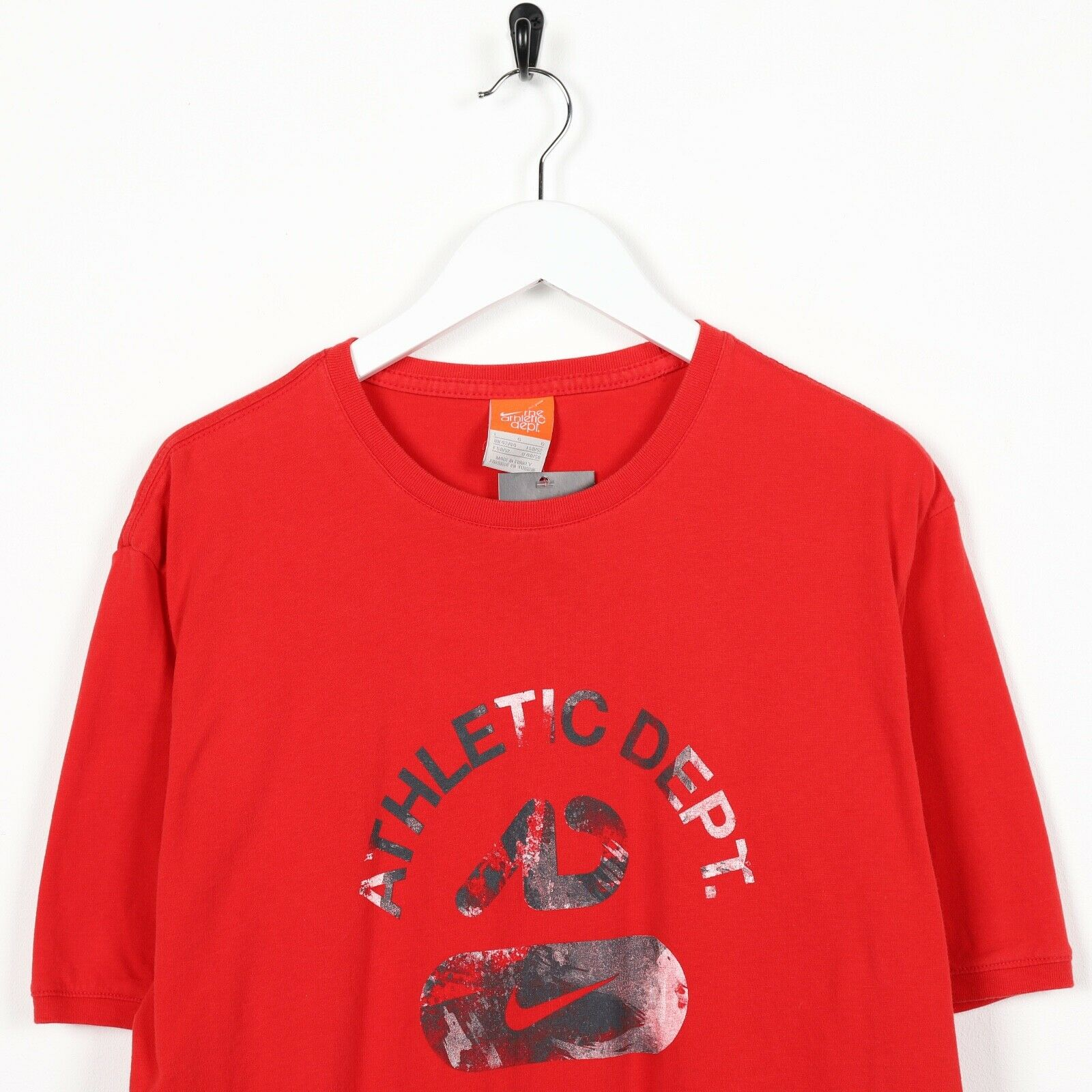 Vintage NIKE Central Graphic Logo T Shirt Tee Red Large L