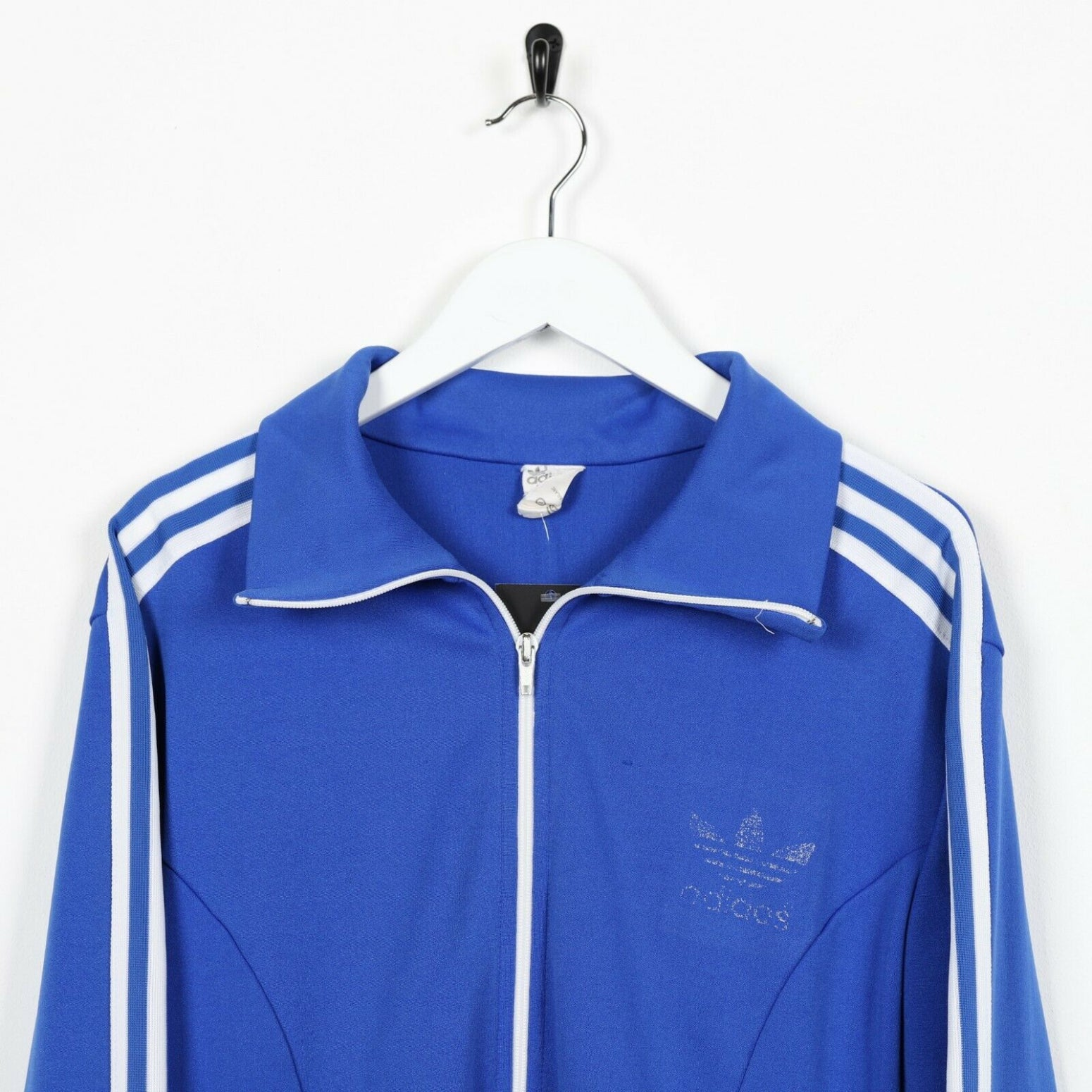 Vintage ADIDAS Small Logo Track Top Jacket Blue Medium M