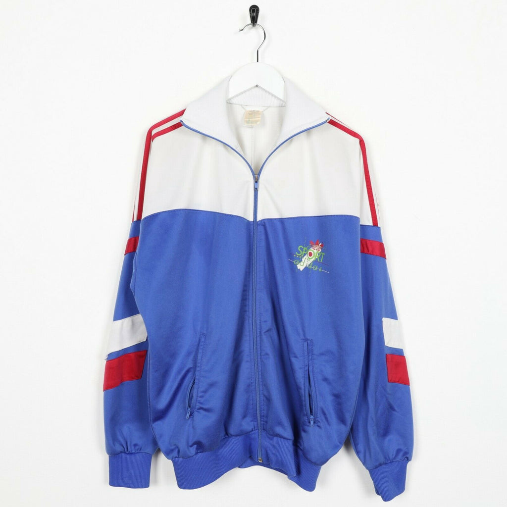 Vintage 80s ADIDAS Sport Small Logo Track Top Jacket White | Medium M