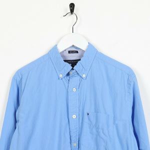 Vintage TOMMY HILFIGER Small Logo Shirt Blue small S