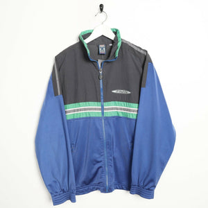 Vintage 90s LOTTO Small Logo Zip Up Track Top Jacket Blue | Medium M