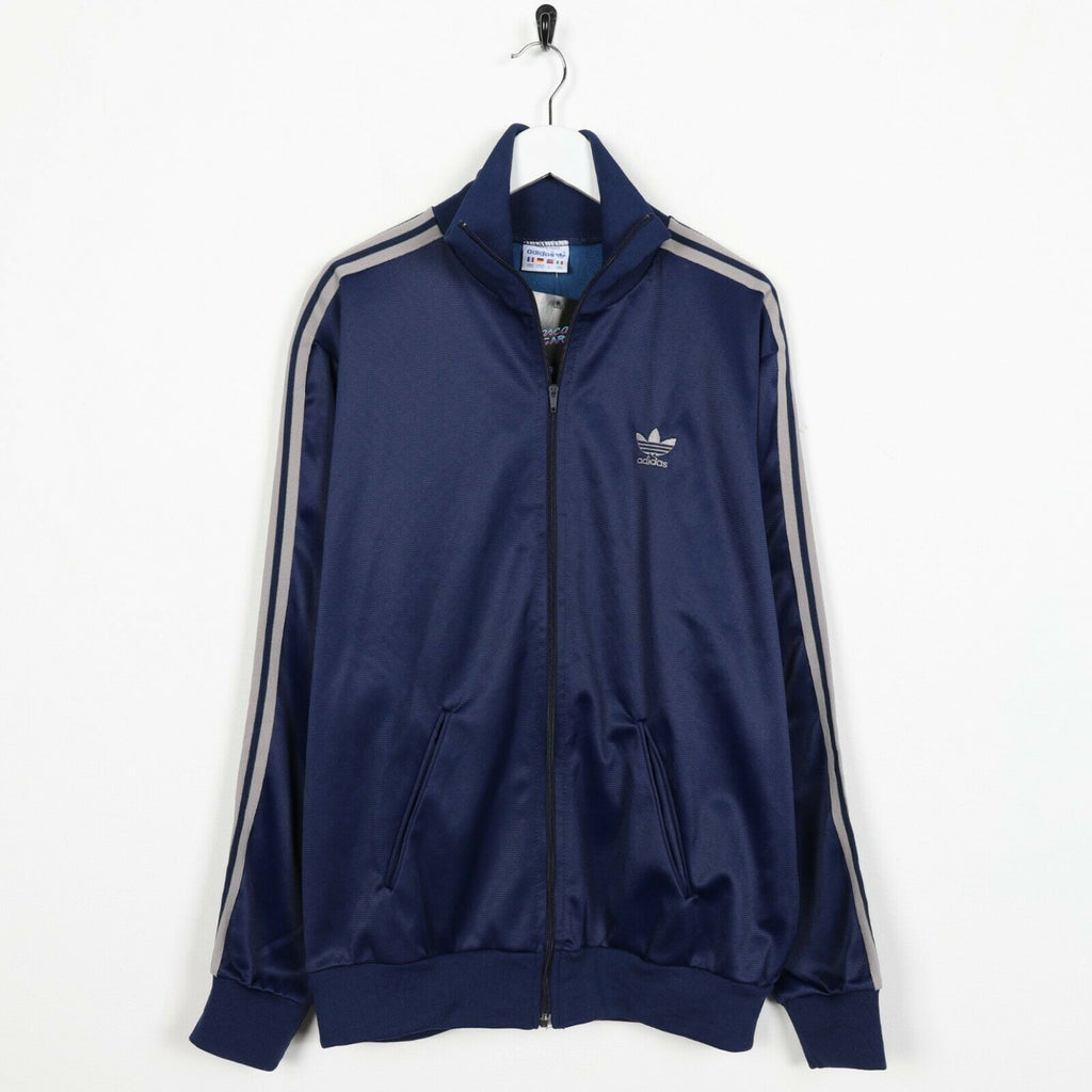 Vintage ADIDAS ORIGINALS Small Logo Zip Up Track Top Jacket Blue | Large L
