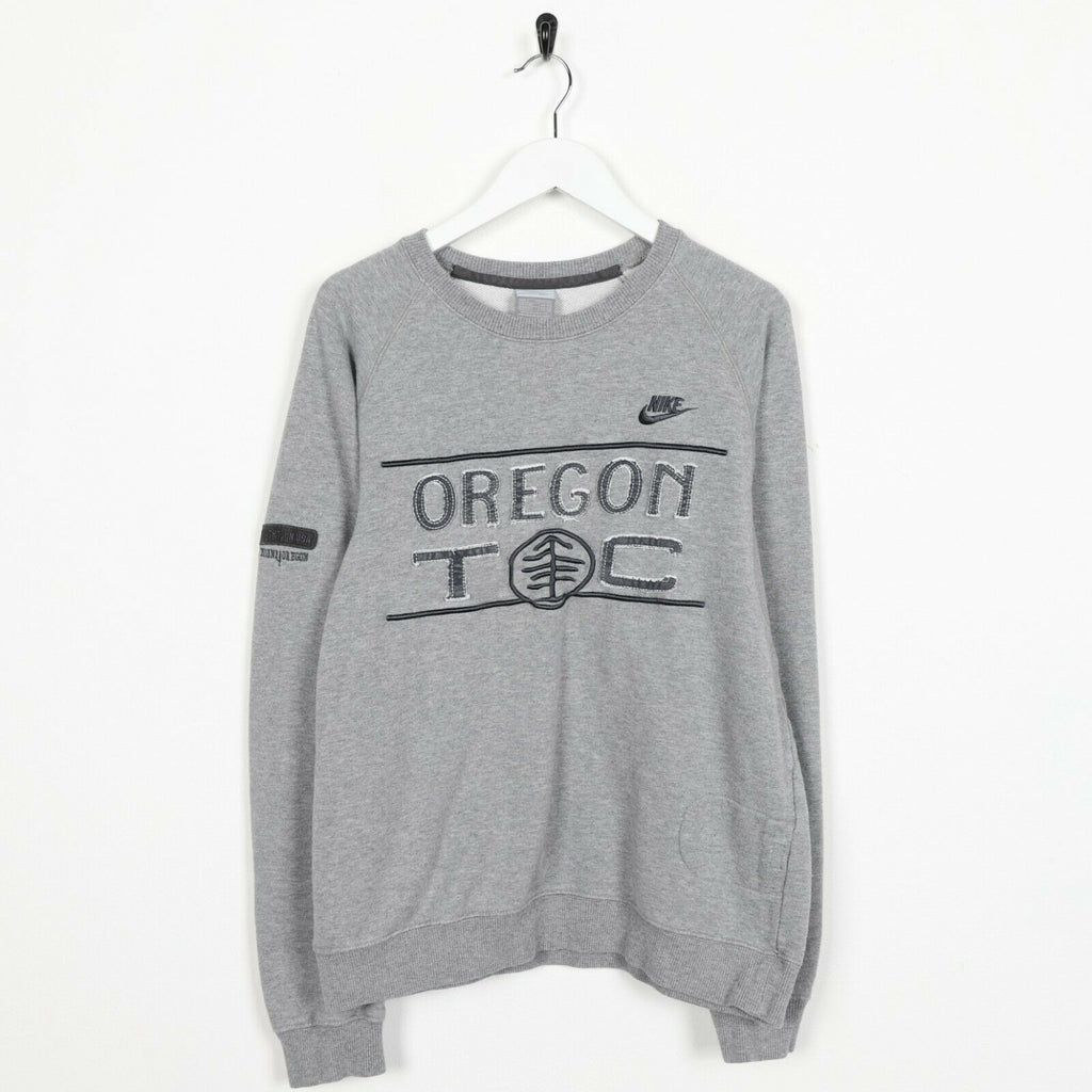 Vintage NIKE Big Logo Sweatshirt Jumper Grey | Small S