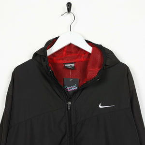 Vintage NIKE Soft Shell Lightweight Windbreaker Jacket Black XL
