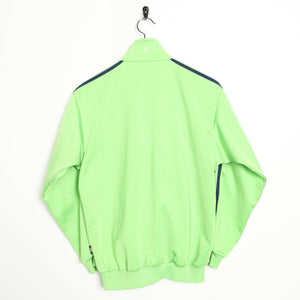 Vintage 80s ADIDAS Small Logo Tracksuit Top Jacket Green | Small S