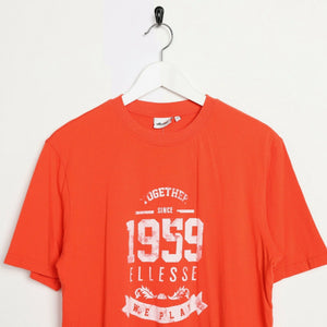 Vintage ELLESSE Big Logo T Shirt Tee Orange Large L