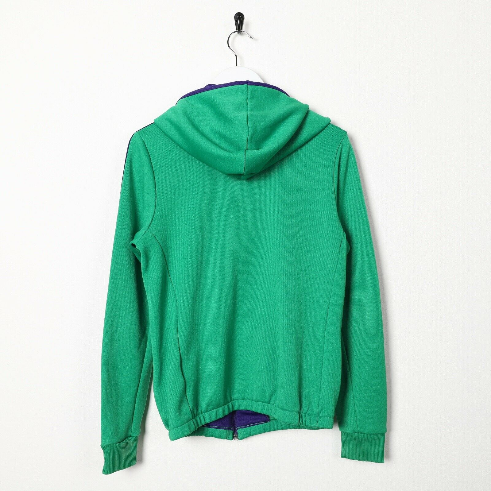 Vintage Women's ADIDAS ORIGINALS Zip Up Polyester Hoodie Green | Small S