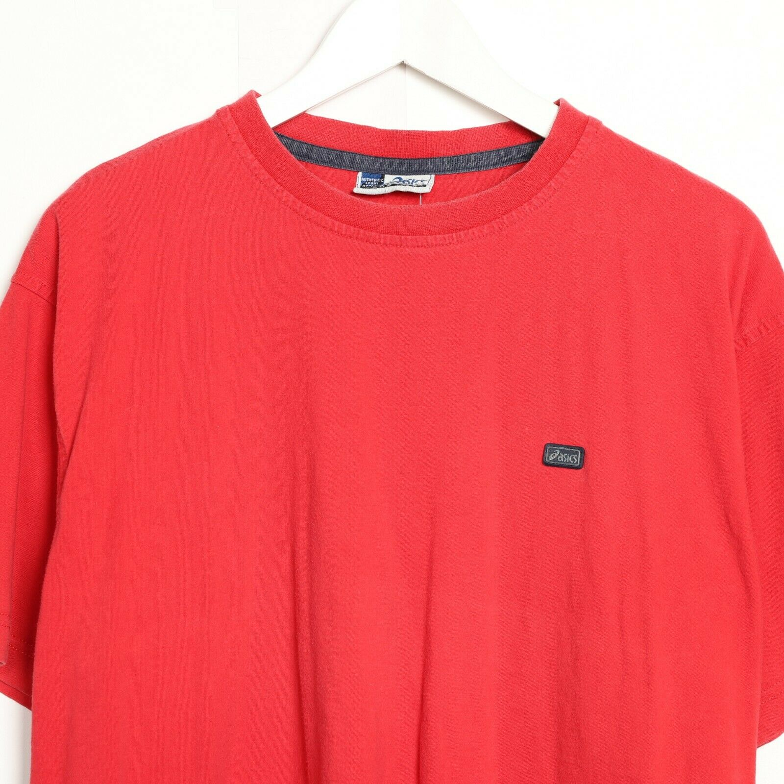 Vintage ASICS Small Logo T Shirt Tee Red | Large L