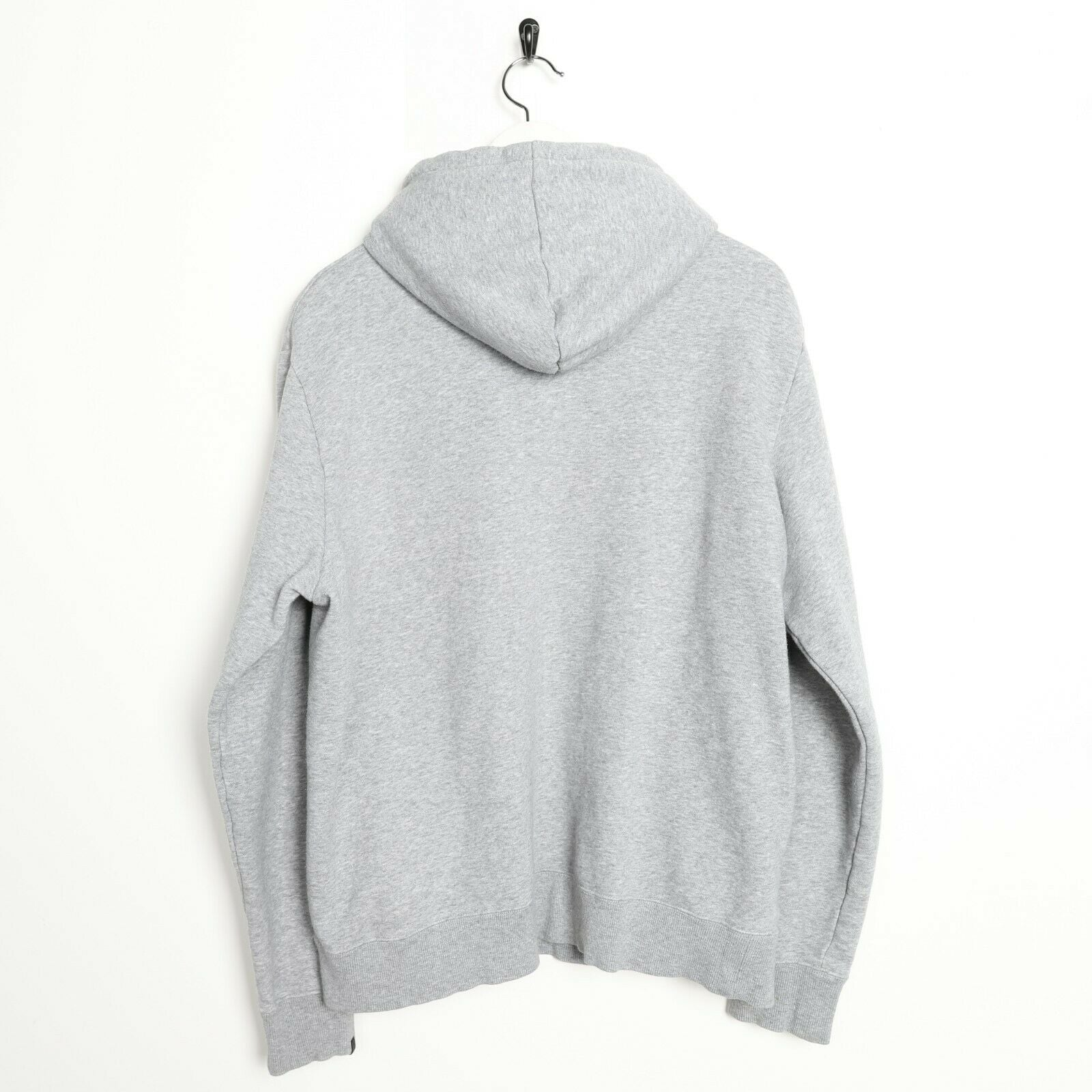 Vintage NIKE Spell Out Hoodie Sweatshirt Grey Large L