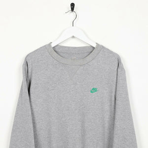 Vintage NIKE Small Logo Sweatshirt Jumper Grey Large L