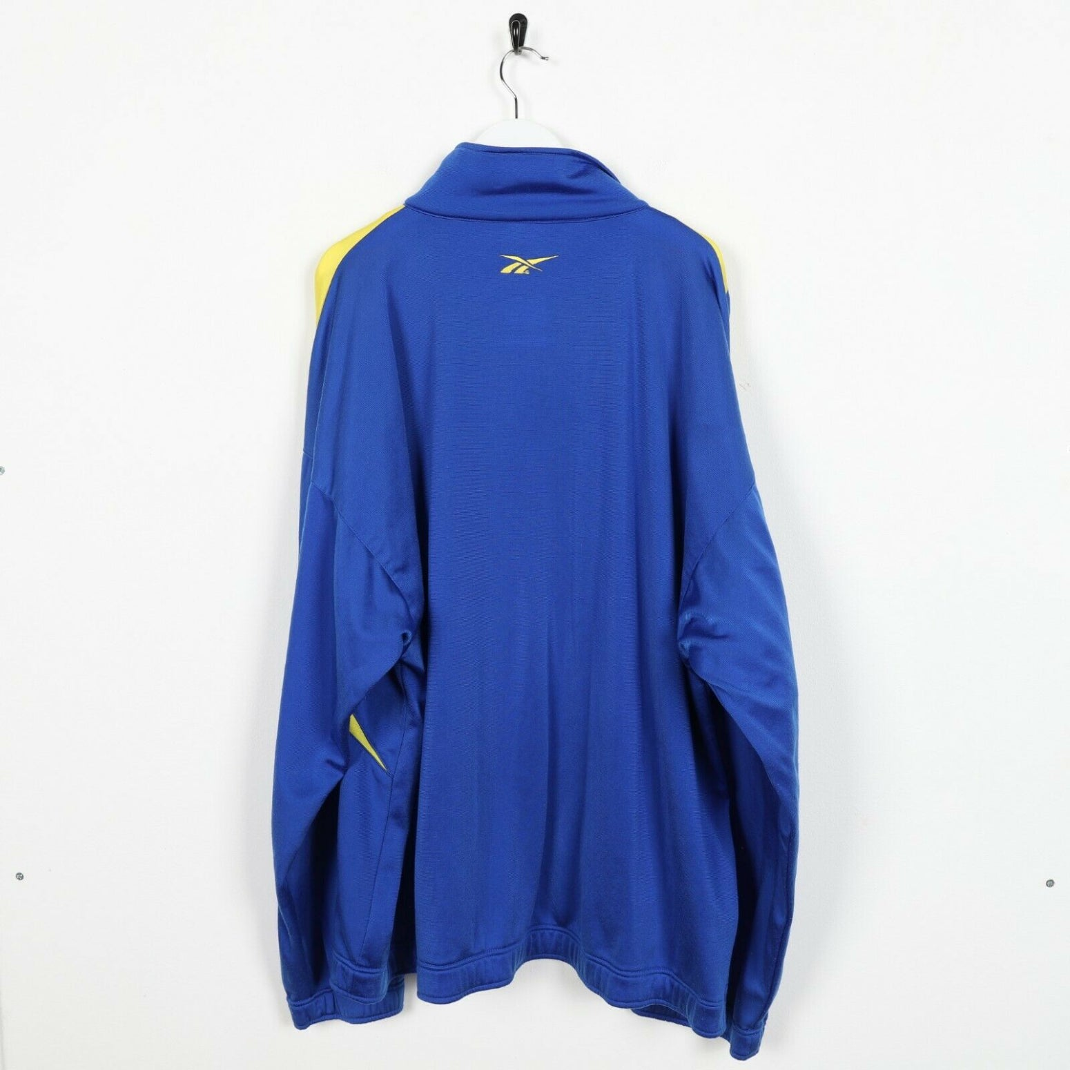 Vintage 90s REEBOK Small Logo Track Top Jacket Blue Yellow | 2XL