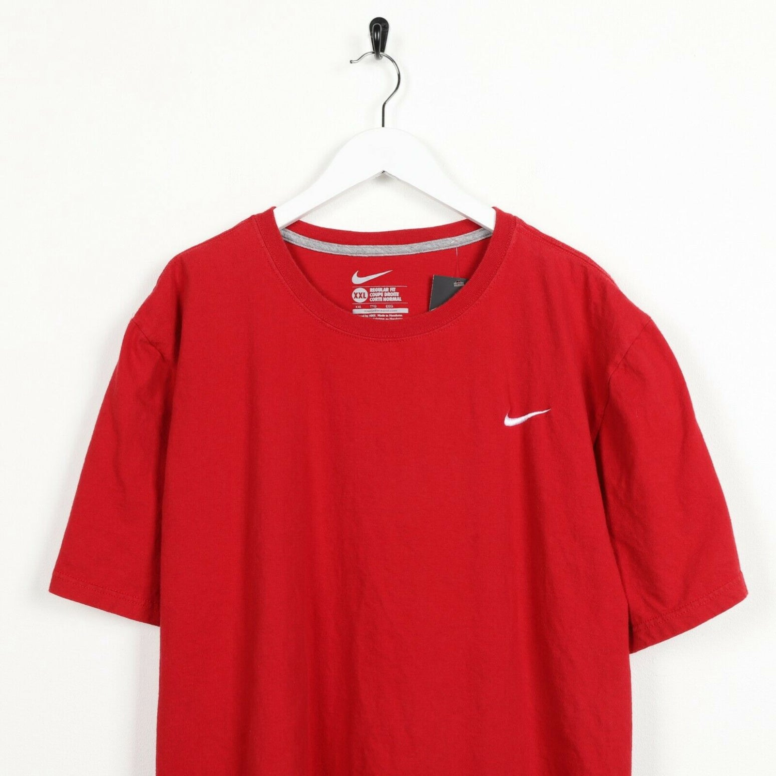 Vintage NIKE Small Logo T Shirt Tee Red 2XL