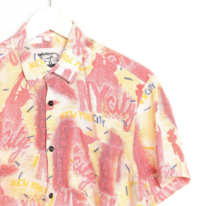 Vintage 90s ABSTRACT Short Sleeve Festival Party Shirt | Medium M