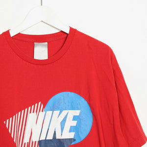 Vintage 90s NIKE Big Graphic Logo T Shirt Tee Red XL